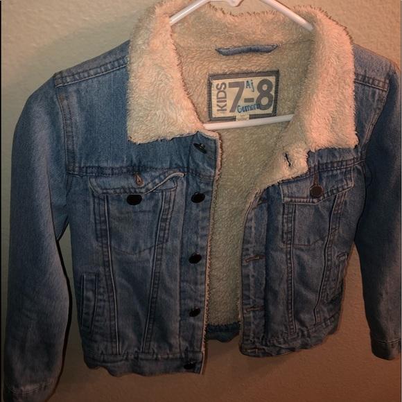 Boys cotton on kids jean jacket Sherpa lined